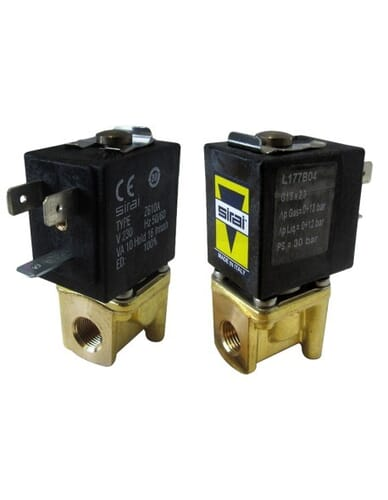 "Sirai solenoid 2 way valve 1/8"" 1/8"" 230V 50/60Hz"