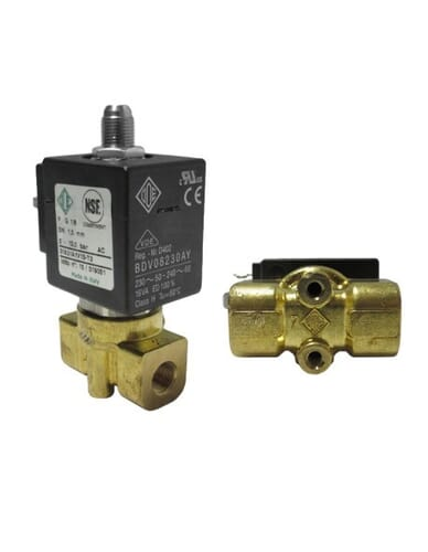 "Ode solenoid valve 3 ways 1/8"" 1/8"" 220/230V 50/60Hz DN 2.5MM"