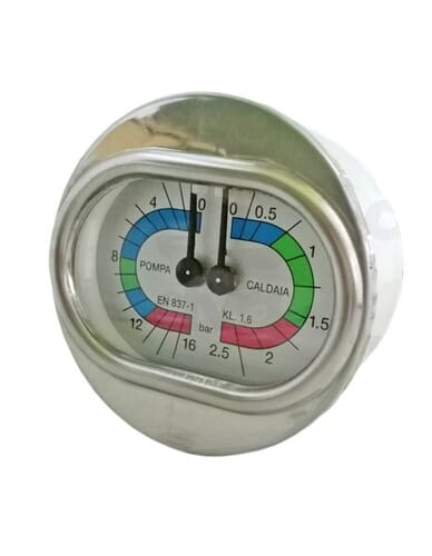 Boiler pump manometer 0 - 2.5 / 0 - 16 bar
