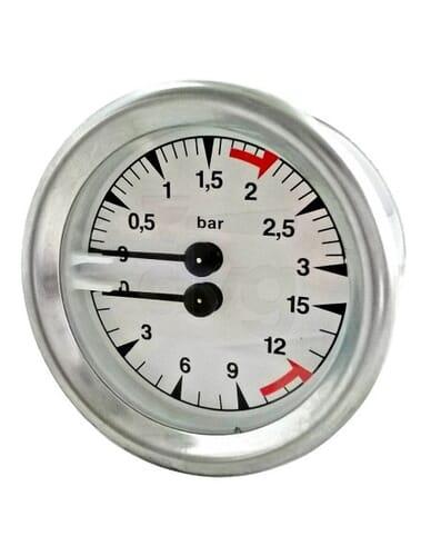 Faema Boiler pump manometer D.60 0-3/0-16 bar