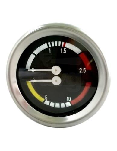Nuova Simonelli boiler pomp manometer 0-2.5 / 0-16 bar