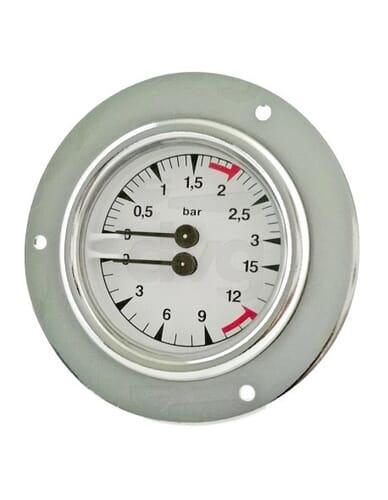 San Remo boiler pump manometer 0-3 / 0-15 dia 85