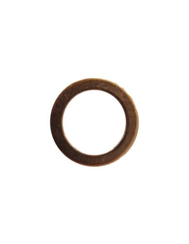Flat copper gasket 19x13.4x1.5mm 1/4""