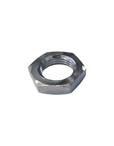 "Chrome half nut 3/8"" 6mm hex 24"