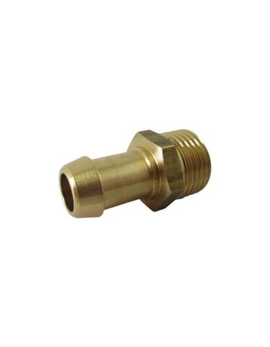 "Brass hose barb 1/2"" M 14mm"
