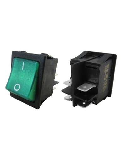 Schakelaar groen aan/uit 30x22mm