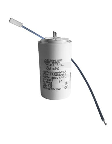Capacitor 8μF 450V with cables