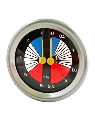 Boiler pump manometer 0 - 2.5 / 0 - 16 bar