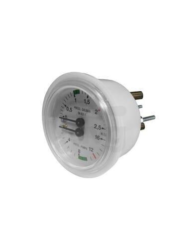 Boiler pomp manometer 0 - 2.5 / 0 - 16 bar