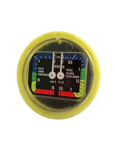 Boiler pomp manometer D 63 0-2.5 0-16 bar